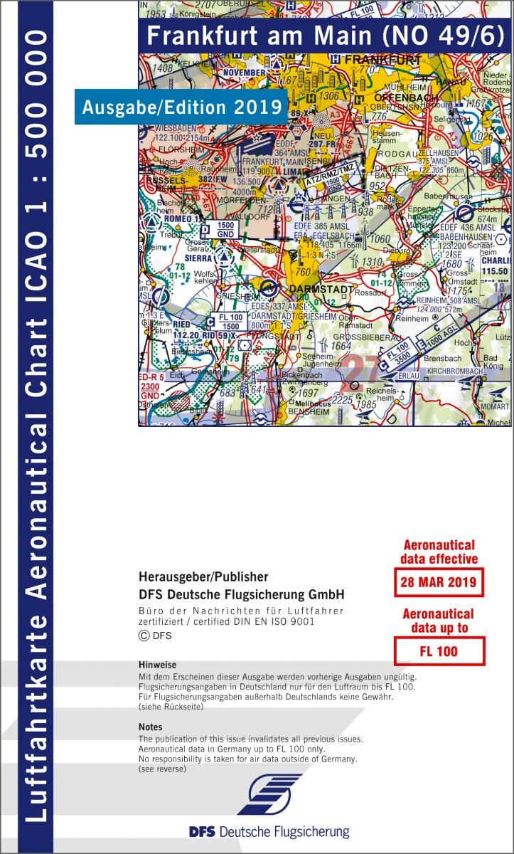 34620440f0102d shop light-wings Flugschule Kassel - ICAO-Karte Frankfurt